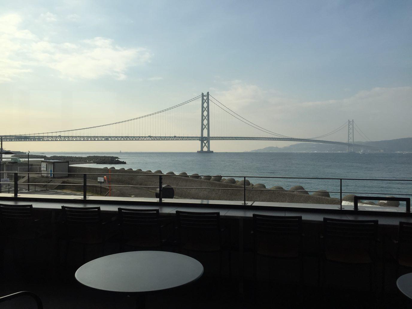 明石海峡大橋のオーシャンビューを一望!!絶景スタバ「 神戸西舞子店」に行ってきた♪