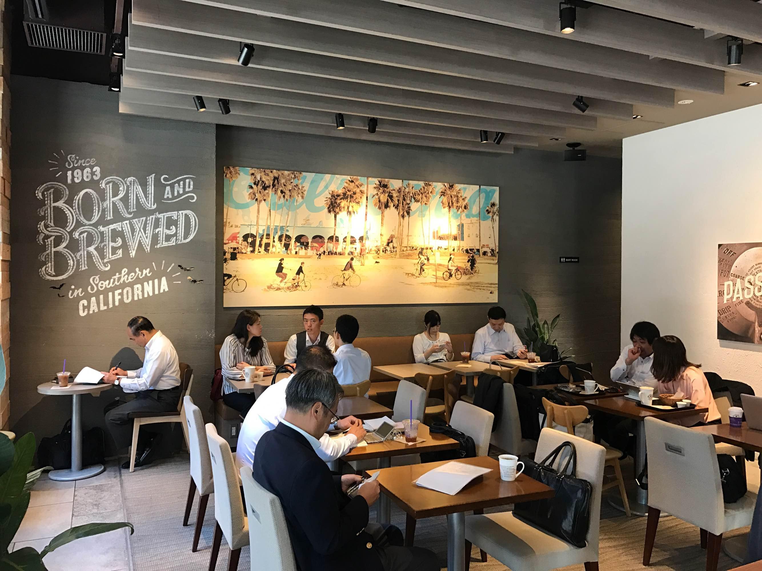 日本橋・コーヒービーン&ティーリーフでモーニングを楽しむ♪平日朝7時オープン!