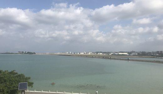 沖縄・瀬長島「ウミカジテラス」 那覇空港から車なしで海に行けるリゾート!南国らしい青いビーチが広がっていたぞ!