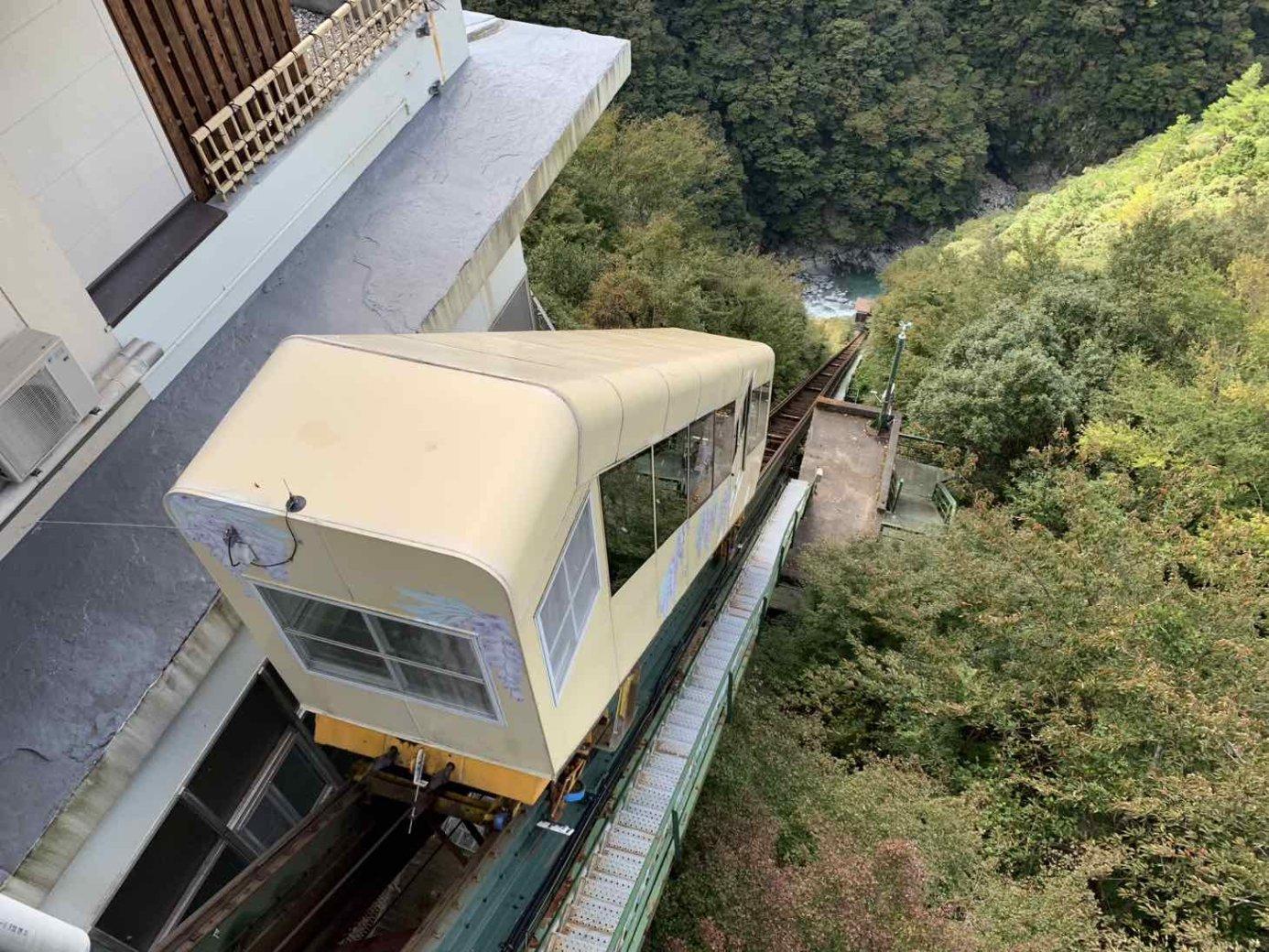 ホテル祖谷温泉 ケーブルカー